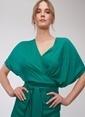 People By Fabrika Bağlama Detaylı Elbise Yeşil